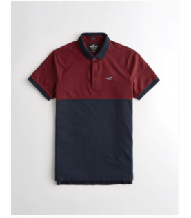 Polo stretch color block...