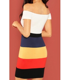 Robe Moulante Color-Block...