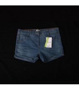 Bermuda jeans bleu fille 14...