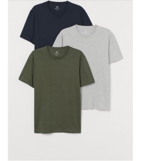 3-pack T-shirts  cou rond