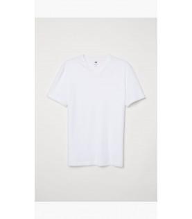 T - shirts blanc cou v