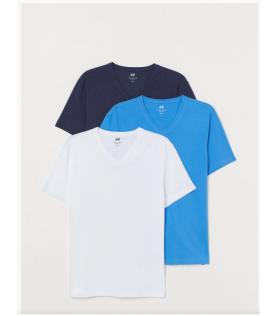 3-pack T-shirts Slim cou V