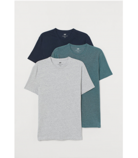 3-pack T-shirts Slim Fit...